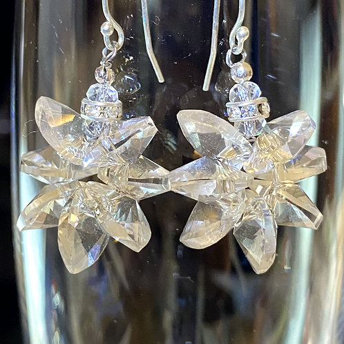 Snowflake (clear crystal) Earrings
