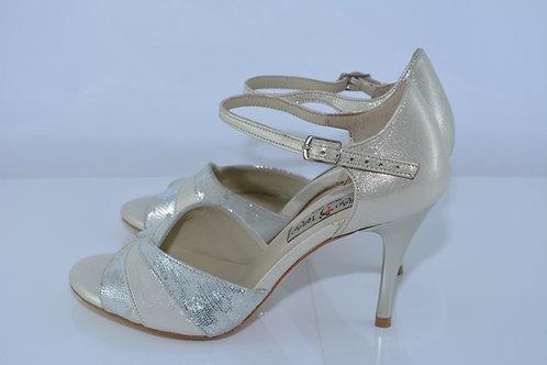 Size 36 Platinum Vortex Peep 8cm Heel (S)