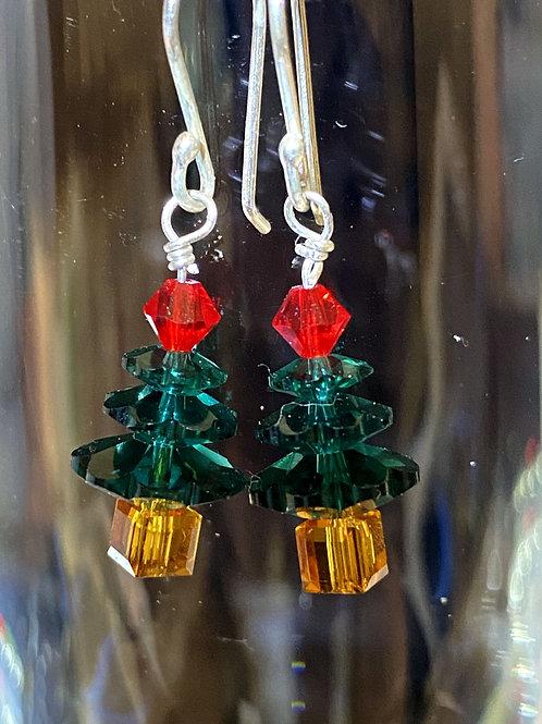 Emerald tree Earrings