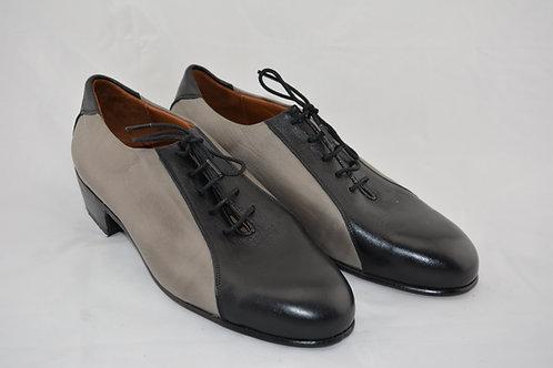 Black & Grey Leather sole