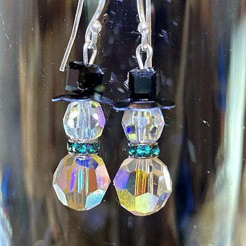 Snowman (crystal emerald) Earrings