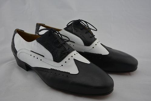 Size 45 Black & White Classic Leather Sole