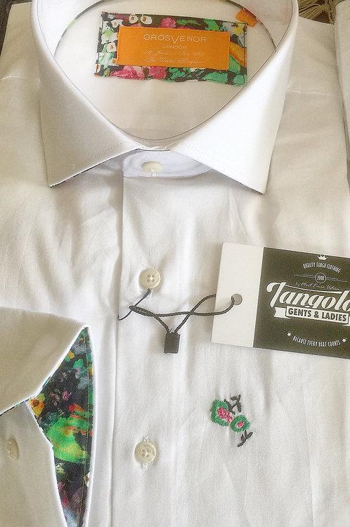 White Shirt floral highlights