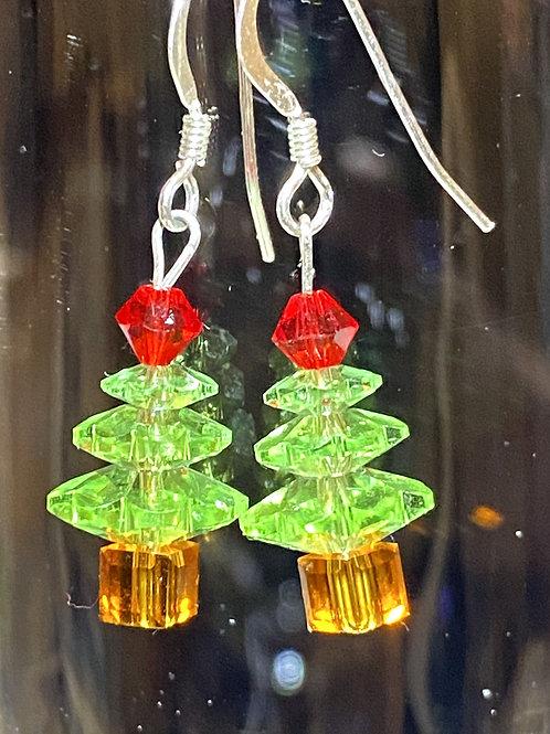 Peridot tree Earrings