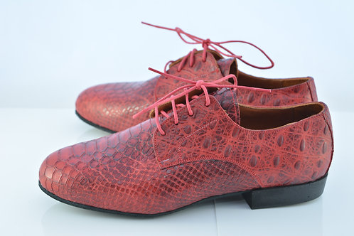 Red Python Funky Flats