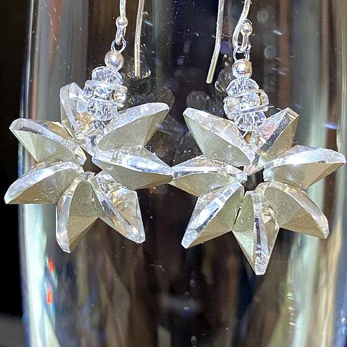 Snowflake (platinum foil) Earrings