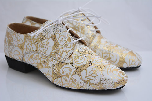 Size 37 Funky Flats Printed Suede with full suede sole