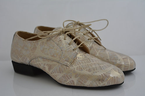 Funky Flats Gold Print Leather with full suede sole