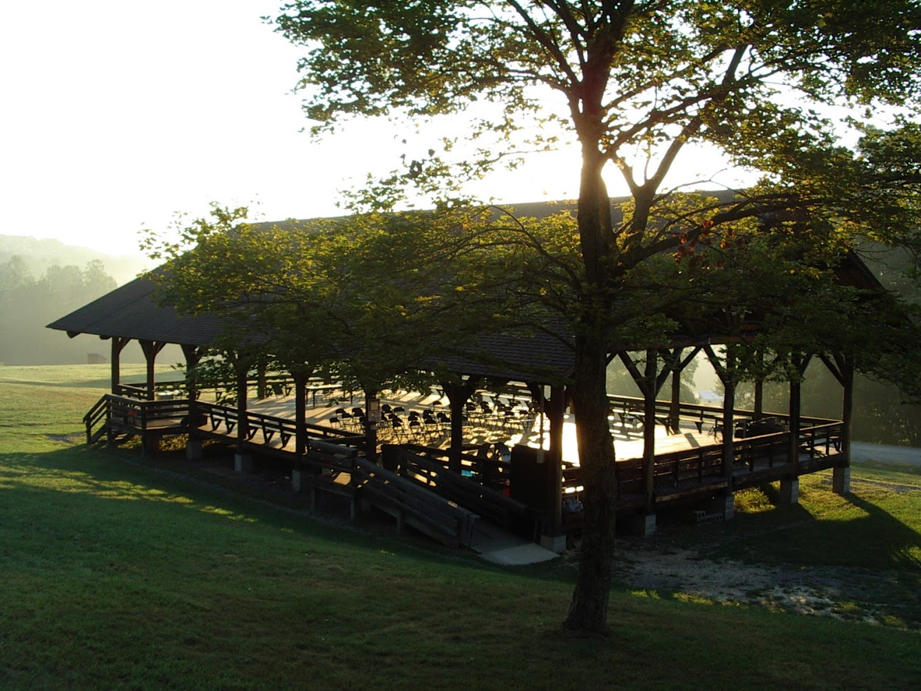 Pavilion at Sunrise