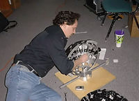 Steve Herrnstadt building the second version of the camera.