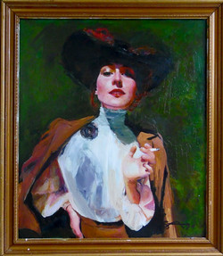 (SOLD)Woman with Cigarette