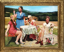 (SOLD)Women with Drinks