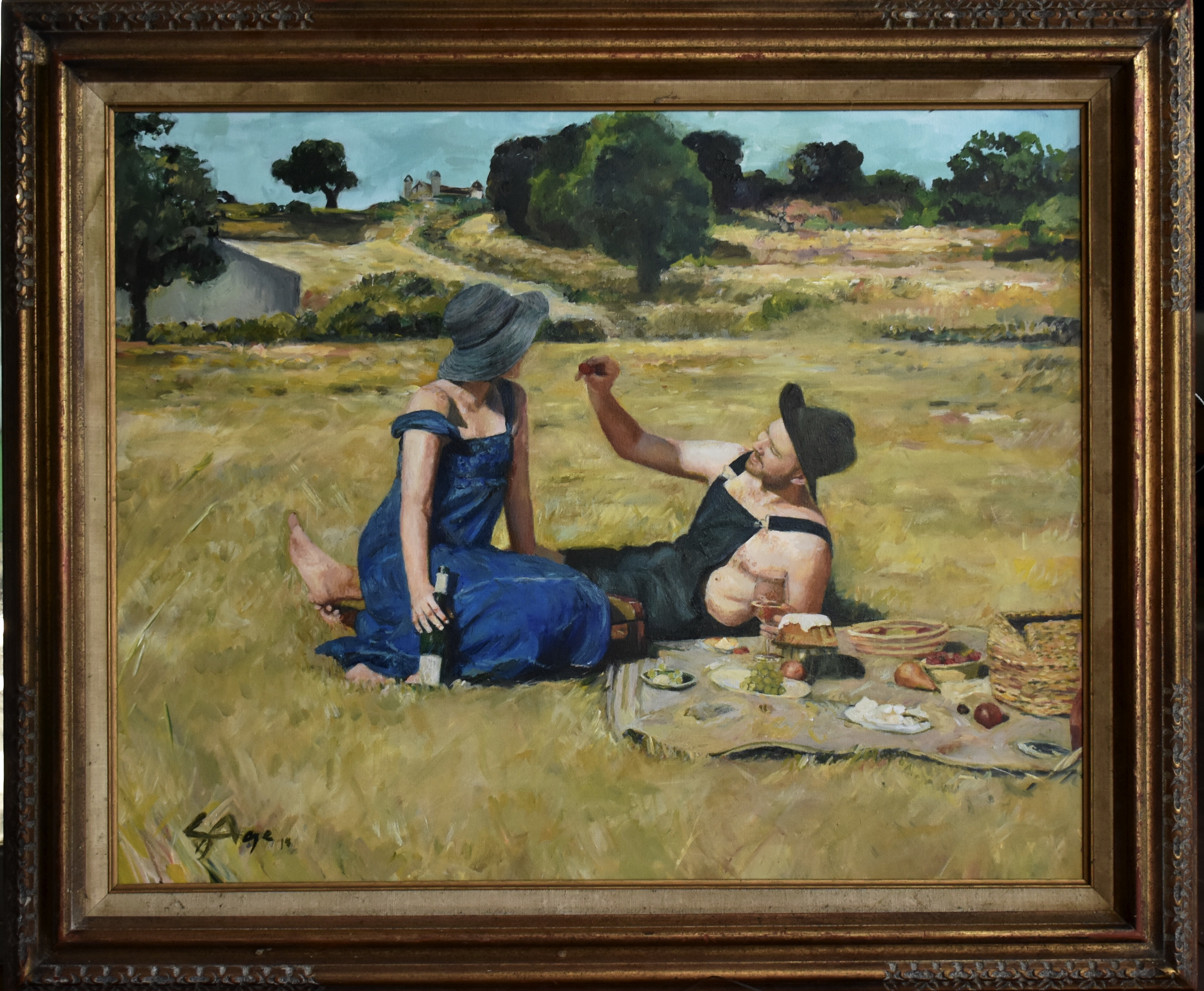 (SOLD)Couple in Field (