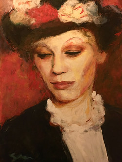 (SOLD)Woman in Hat