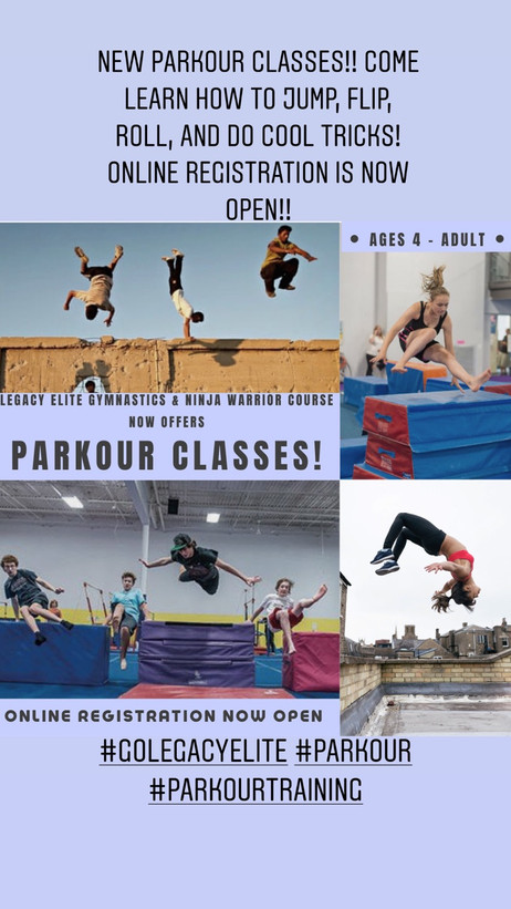 Parkour Classes!