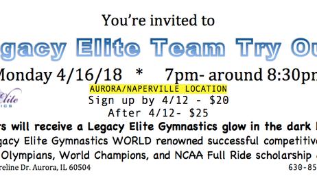 🔥4/30/18!Join Legacy Elite's World & NationRenown Team!🔥