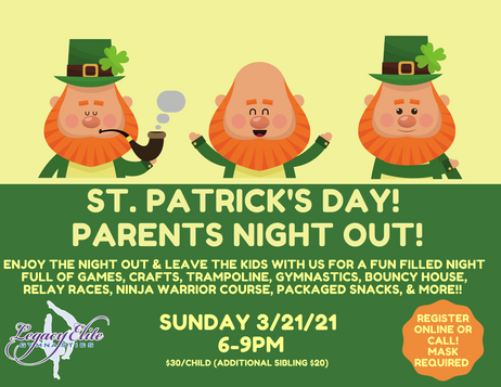 St. Patrick's Parents Night Out!