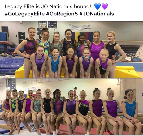 Junior Olympic Level 10 Nationals!