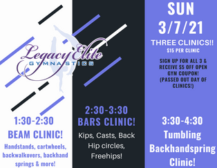 Three Clinics!!