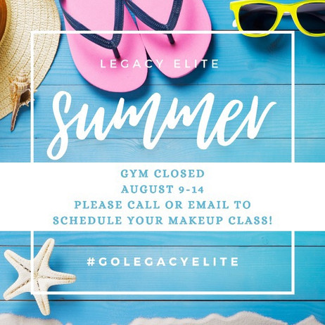 Gym closed August 9-14!