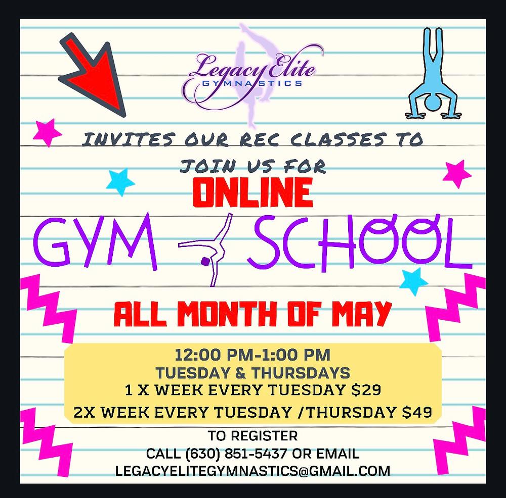 Online Gym School!