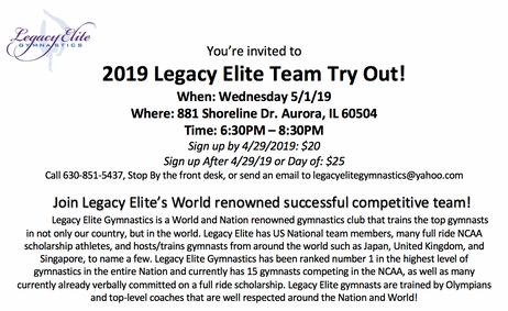 Team Try Out!!Join Our Team!!
