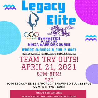 TEAM TRY OUTS! 💜💙🎉 #GoLegacyElite