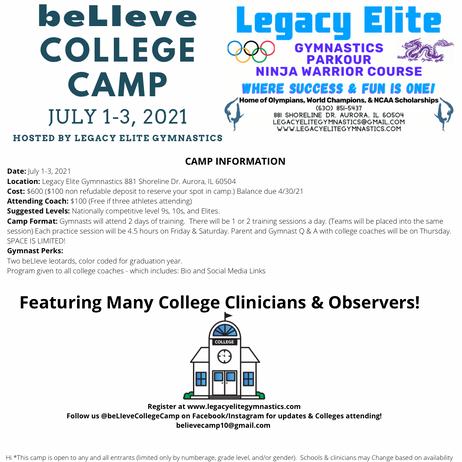 beLIeve College Camp