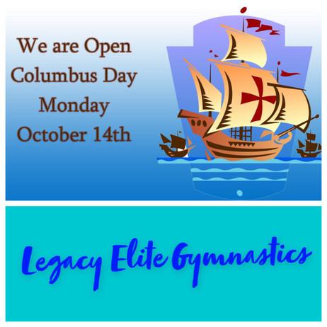 Open on Columbus Day!