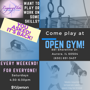 OPEN GYM IS BACK!