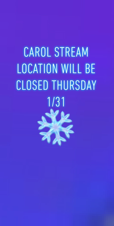 Thursday Carol Stream Closed
