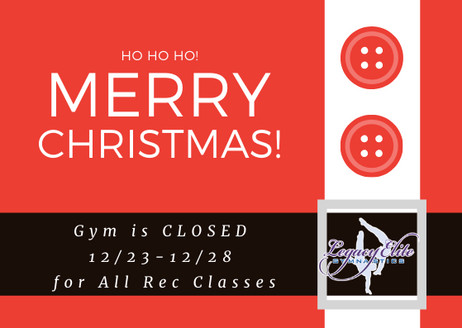 Christmas week closed for Rec Classes