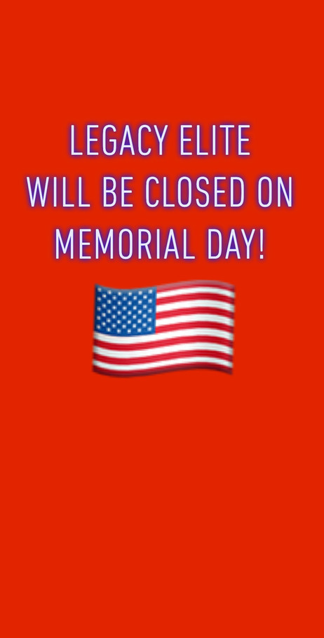 Closed on Memorial Day!