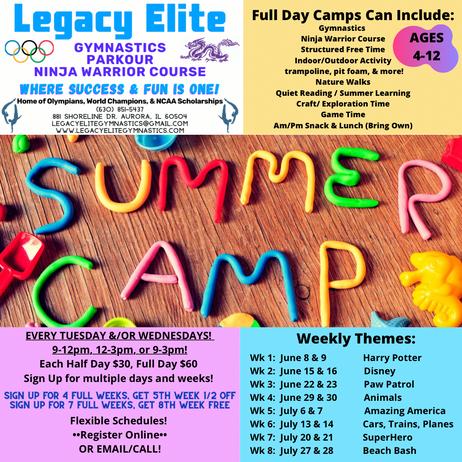 4 Summer Camps!