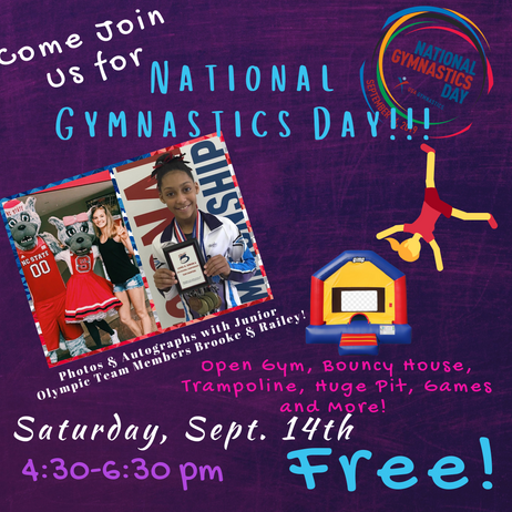 Free Open Gym for National Gymnastics Day!