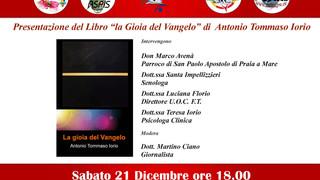 """Praia: oggi pomeriggio, presentazione del Libro """"La Gioia del Vangelo"""" di Antonio Tommaso"""