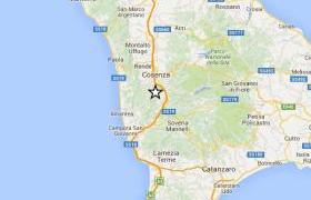 scossa a sud di Cosenza