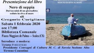 Scalea: presentazione del libro NERO DI SEPPIA di Gragorio Corigliano