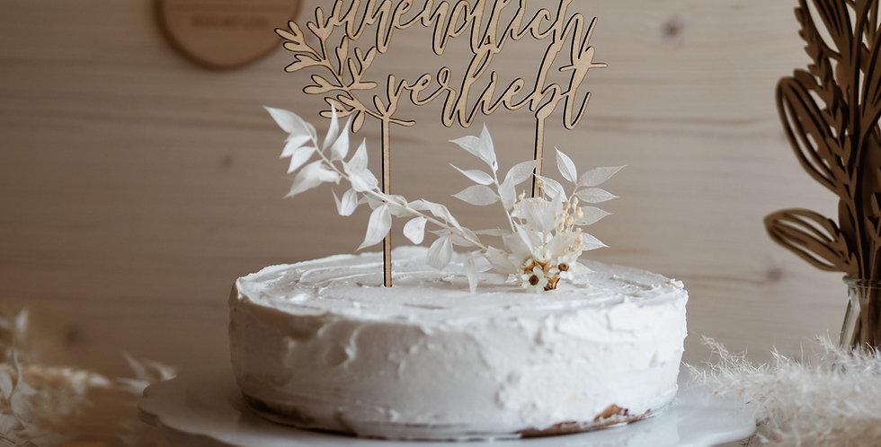 Cake Topper unendlich verliebt