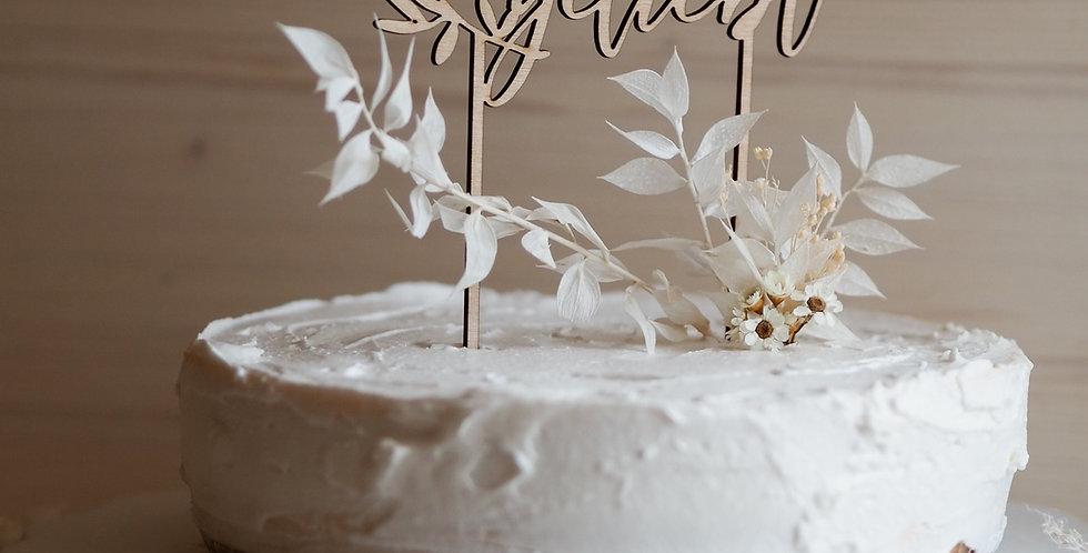 Cake Topper unendlich geliebt