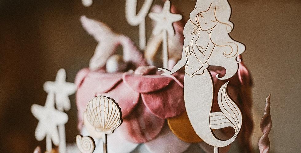 Cake Topper Set Meerjungfrau