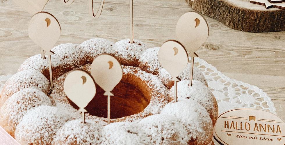 Cake Topper Schriftzug // 1x Wunschname
