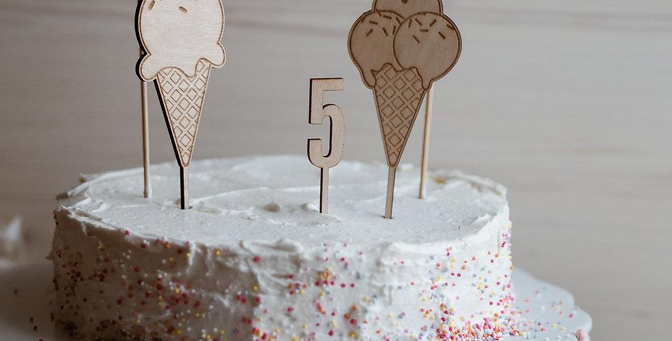 Cake Topper Set Eisparty