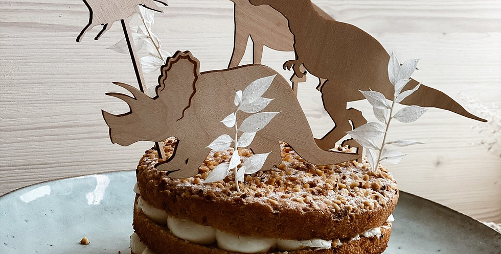 Cake Topper Set Dino