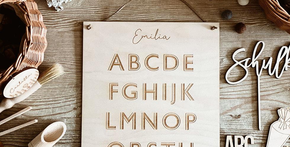 ABC Schild personalisiert