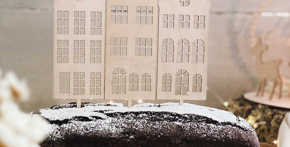 Cake Topper Häuser