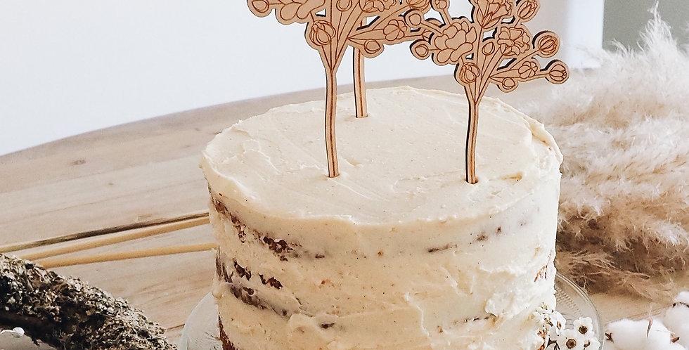 Cake Topper Schleierkraut 3er Set