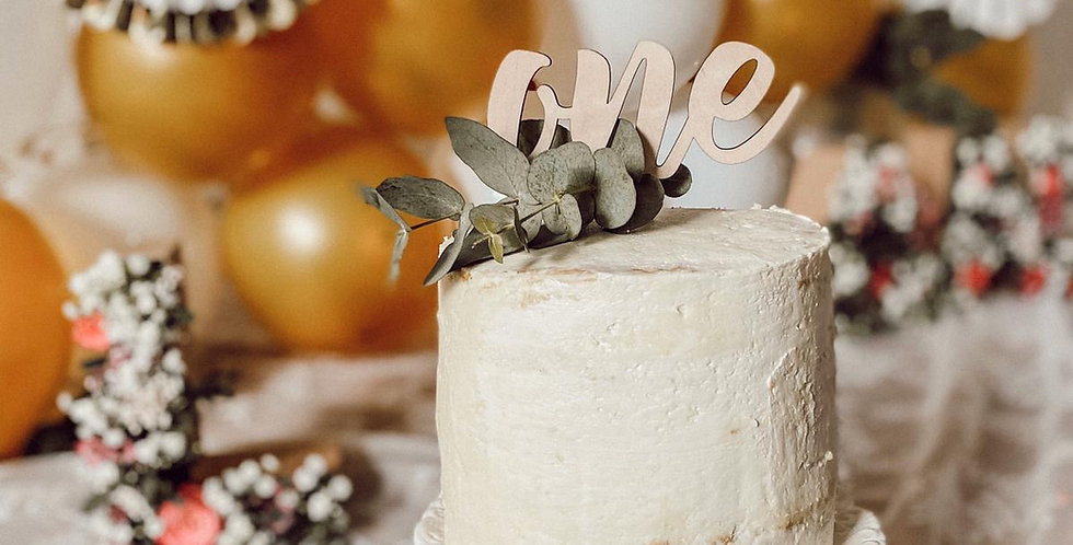 Cake Topper Schriftzug Party // Festtage