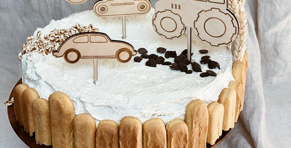 Cake Topper Set Fahrzeuge