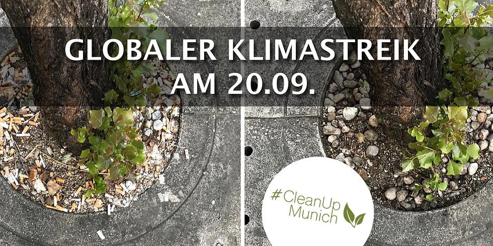 """CleanUpMunich goes """"Globaler Klimastreik"""""""